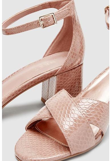 NEXT Sandale de piele ecologica, cu bareta pe glezna Femei