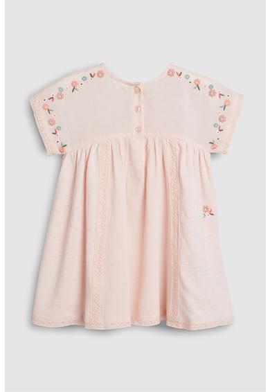 NEXT Bővülő fazonú ruha hímzett részletekkel Lány