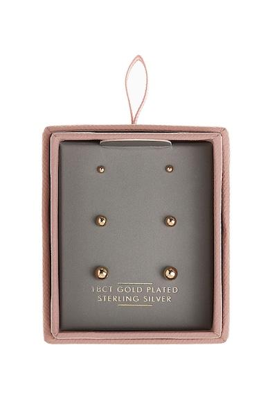 NEXT Сребърни обеци със златно покритие 18K - 3 чифта Жени