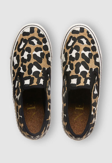 NEXT Pantofi slip on cu animal print Femei