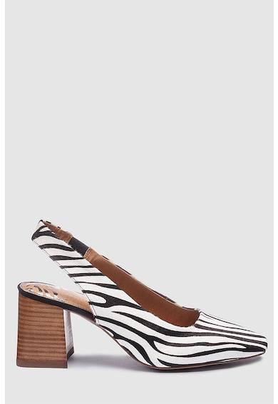 NEXT Pantofi slingback de piele cu animal print Femei
