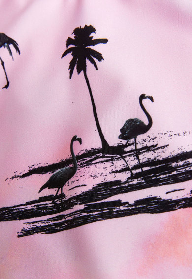 NEXT Costum de baie intreg, cu imprimeu tropical Fete