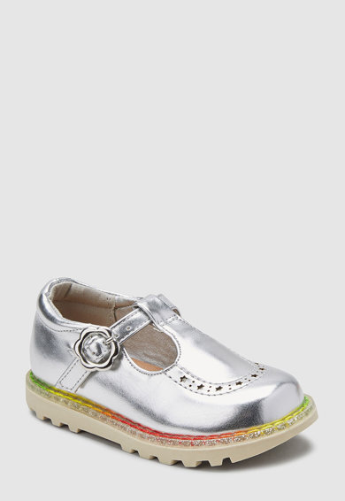 NEXT Обувки Mary Jane с метализиран ефект Момичета