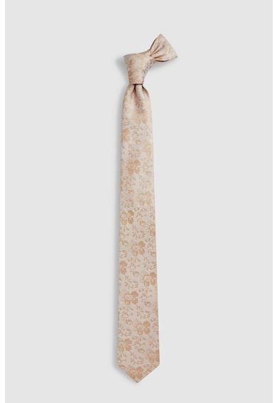 NEXT Set de cravata din matase si batista cu model floral Barbati