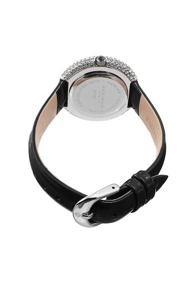 AKRIBOS XXIV Часовник с кристали Swarovski и кожена каишка Жени