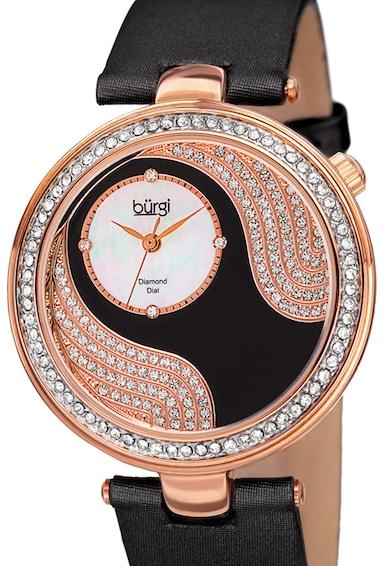 BURGI Ceas analog decorat cu cristale si diamante Femei