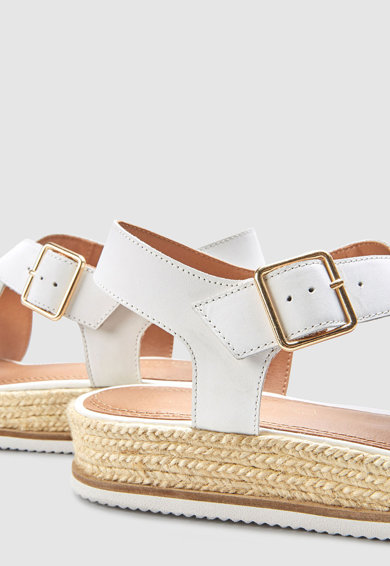NEXT Sandale de piele tip espadrile Femei