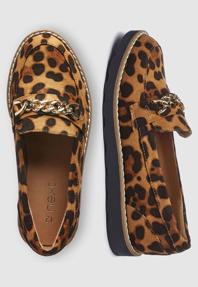 NEXT Pantofi loafer cu animal print Fete