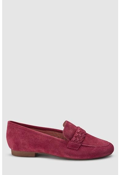 NEXT Pantofi loafer de piele intoarsa, cu detaliu din tricot Femei
