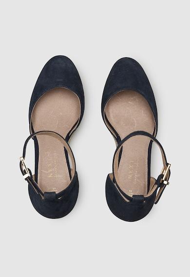 NEXT Sandale tip espadrile wedge de piele intoarsa Femei