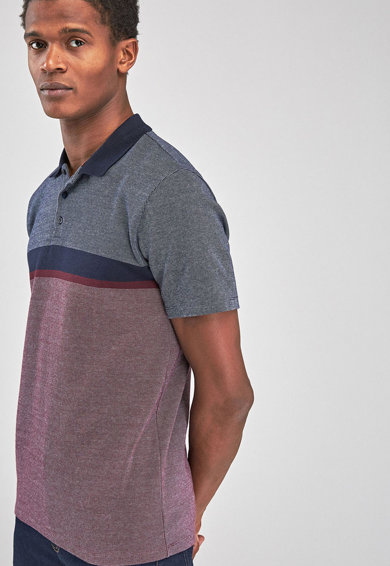 NEXT Tricou polo slim fit cu model colorblock Barbati