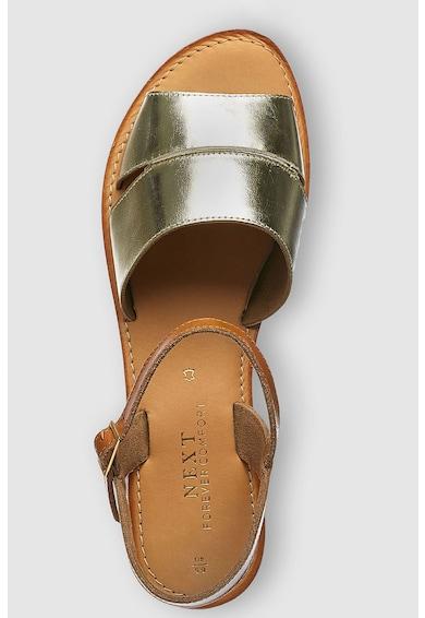 NEXT Sandale de piele cu aspect metalizat Femei