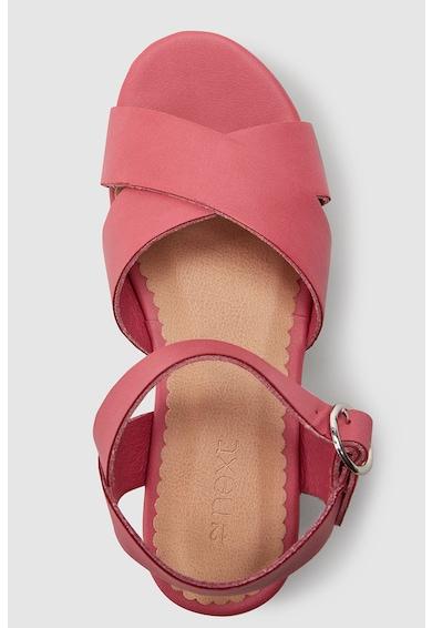 NEXT Sandale wedge de piele ecologica Fete
