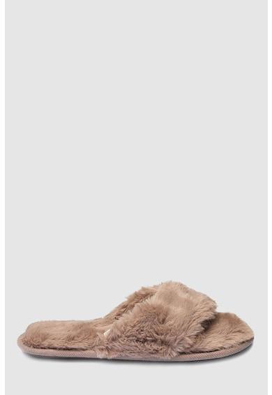 NEXT Papuci din material pufos, cu bareta separatoare Femei