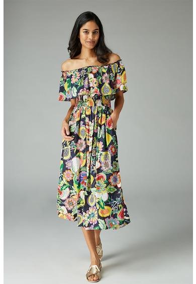 NEXT Rochie cu imprimeu floral si decolteu pe umeri Femei
