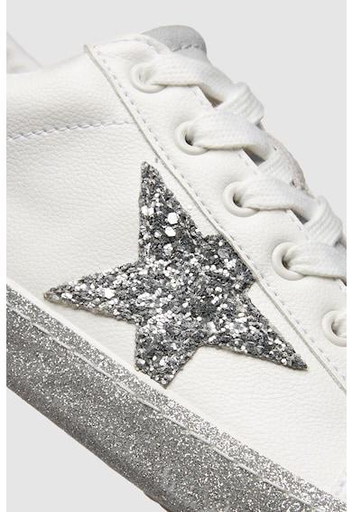 NEXT Pantofi sport de piele ecologica, cu insertii de piele intoarsa Femei
