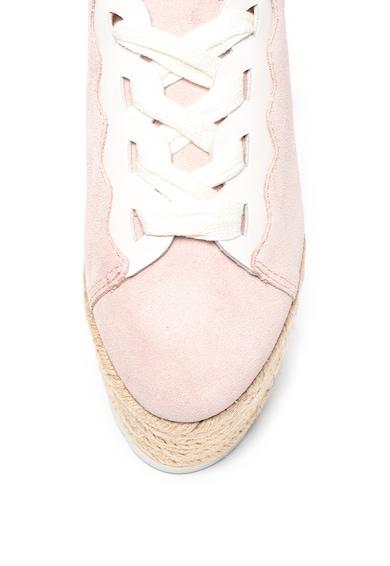 Guess Pantofi sport flatform de piele si piele ecologica Femei