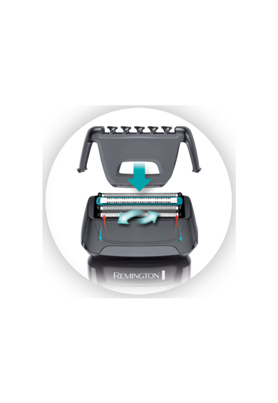 Remington Aparat de ras  Style Series F5 , Acumulator, 2 site flexibile, Trimmer, 7 accesorii, Gri Barbati