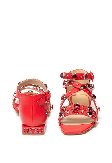 Liu Jo Sandale de piele cu aplicatii cu tinte si strasuri Giada Femei
