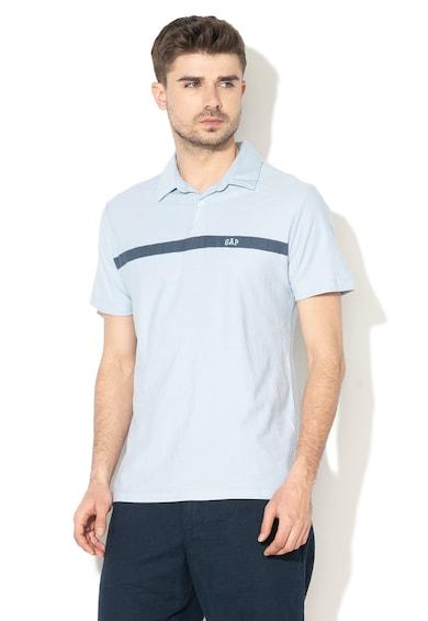 GAP Тениска с яка и контрастен детайл Мъже