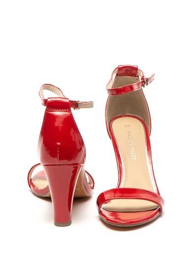 Marco Tozzi Sandale de piele ecologica cu aspect lacuit Femei