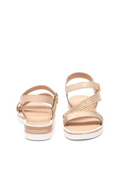 Marco Tozzi Sandale de piele cu detalii stralucitoare Femei