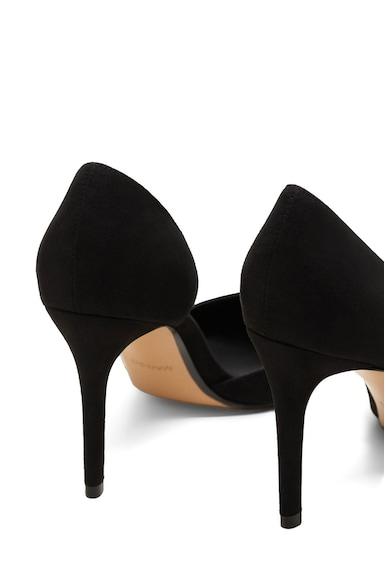 Mango Pantofi d'Orsay cu partile laterale de piele intoarsa ecologica si varf ascutit Audrey Femei