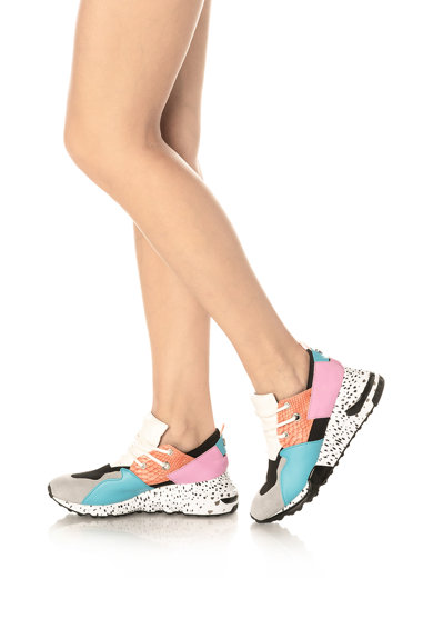 Steve Madden Pantofi sport cu insertii de piele intoarsa si talpa wedge Cliff Femei