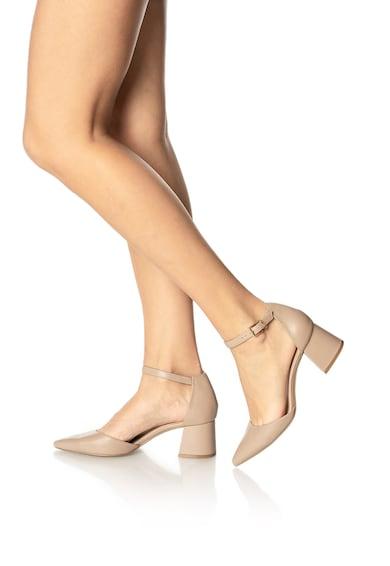 Steve Madden Pantofi de piele cu varf ascutit si decupaje Mortina Femei