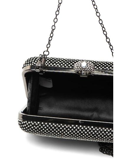 Antonia Moretti Малка чантичка с декоративни камъни, Черен/Сребрист Жени