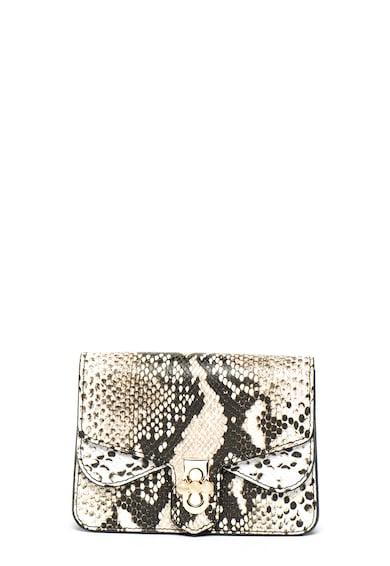 Chiara Canotti Geanta crossbody de piele cu model animal print Femei