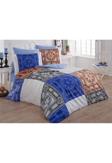 Kotonia Home Lenjerie de pat pentru 2 persoane Oriental Blu  100% bumbac, model oriental Femei