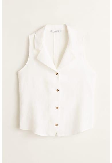 Mango Degas virágmintás ujjatlan lenvászon ing női