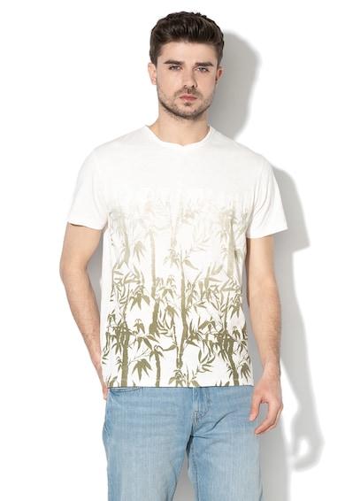 DESIGUAL Bambam mintás póló hímzett logóval férfi