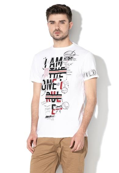 DESIGUAL Sea mintás póló férfi