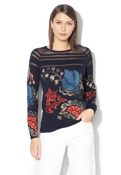 DESIGUAL Marsella pulóver áttetsző részletekkel női