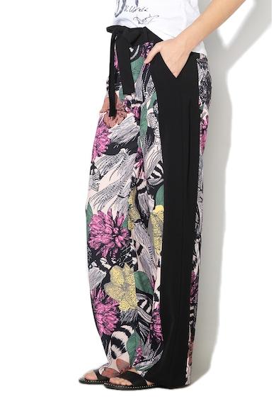 DESIGUAL Geraldine virágmintás culotte nadrág megkötővel női