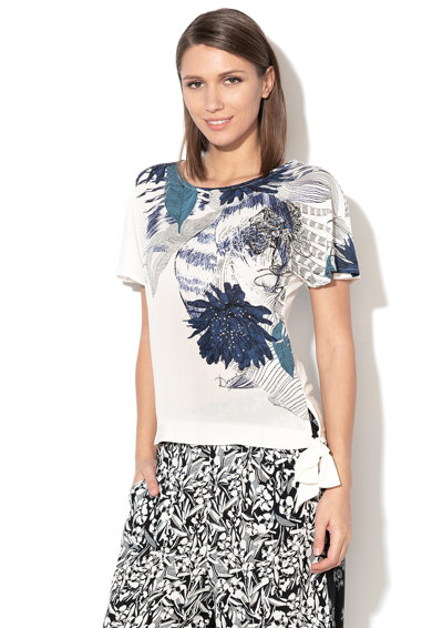 DESIGUAL Wichitas virágmintás póló női