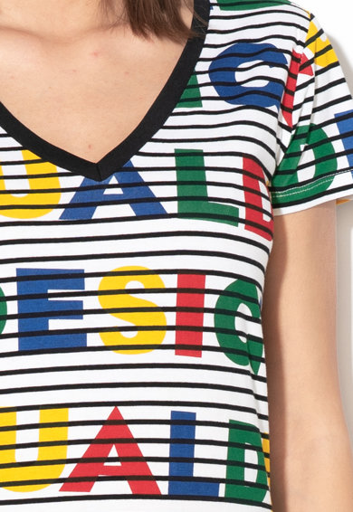 DESIGUAL Dsgl V-nyalú póló női