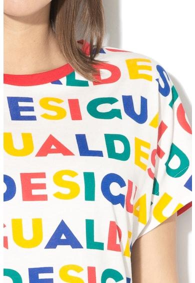 DESIGUAL Ramkey modáltartalmú póló aszimmetrikus alsó szegéllyel női