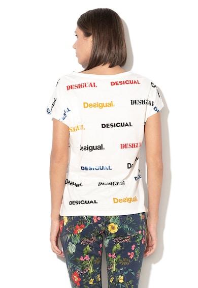 DESIGUAL Tricou din amestec de modal, cu imprimeu logo Kendall Femei
