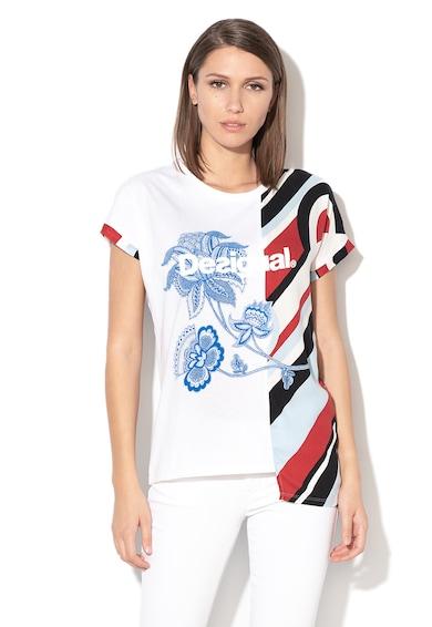 DESIGUAL Brandall logómintás póló női