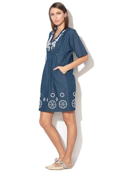 DESIGUAL Electra egyenes fazonú ruha hímzett részletekkel női