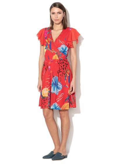 DESIGUAL Miranda mintás átlapolt ruha női