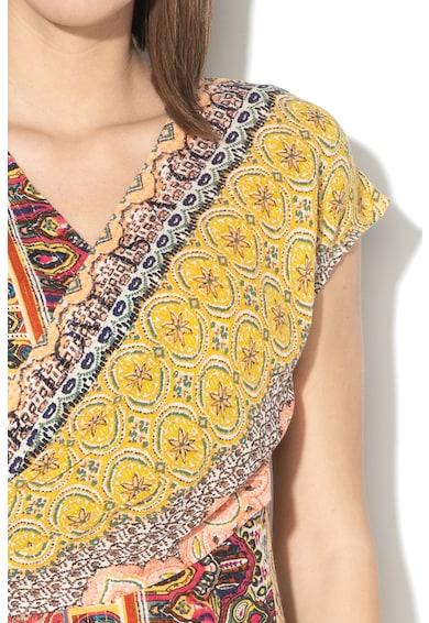 DESIGUAL Clanzie bővülő fazonú ruha többféle mintával női
