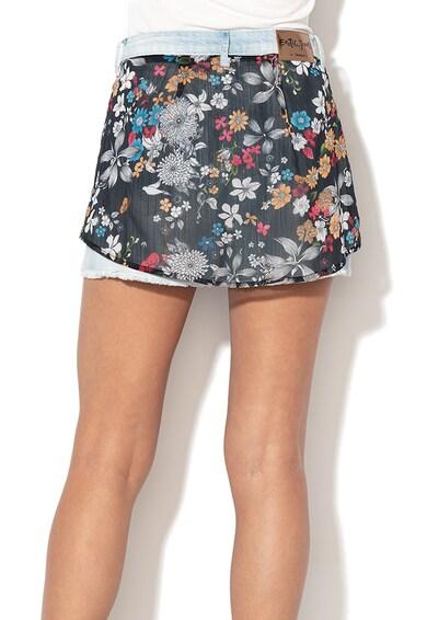 DESIGUAL Pantaloni scurti din denim cu strat exterior cu imprimeu Platea Femei