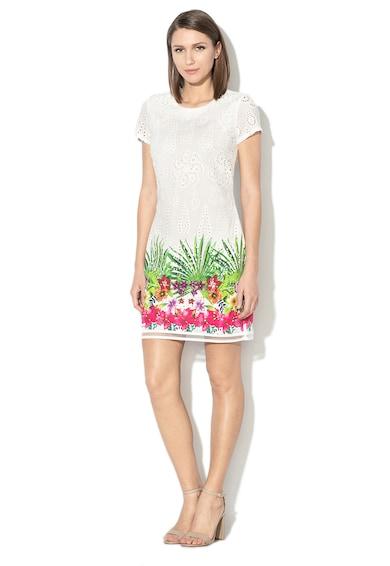 DESIGUAL Denver egyenes fazonú ruha perforációkkal női