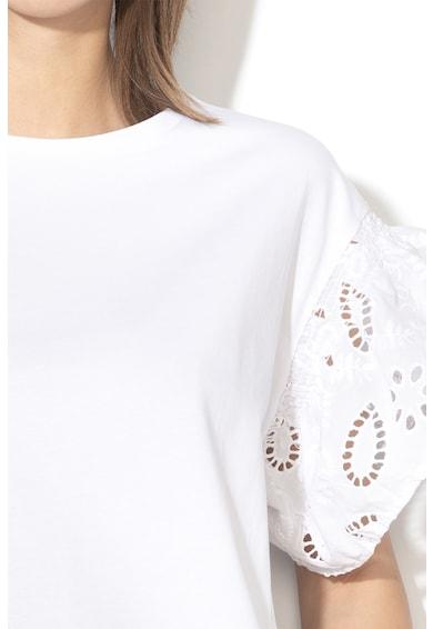Liu Jo Laza fazonú póló horgolt csipkeujjakkal női