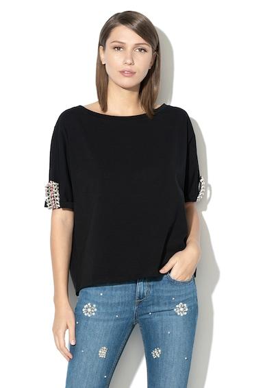 Liu Jo Laza fazonú póló strasszkövekkel női