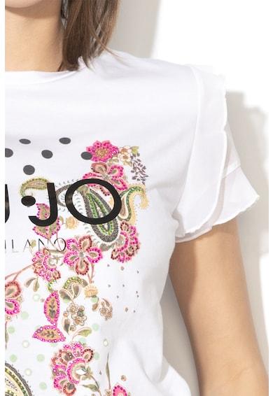 Liu Jo Póló strasszköves rátétekkel női